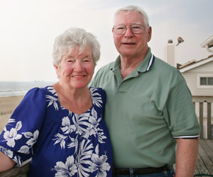 Older couple by the sea